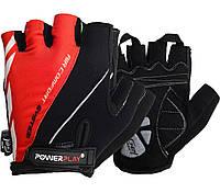 Велорукавички PowerPlay 5024 C Чорно-червоні XS, фото 1