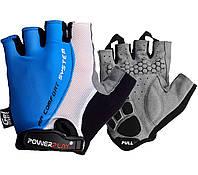 Велорукавички PowerPlay 5010 B Біло-блакитні L, фото 1