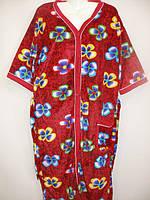 Женские велюровые халаты больших размеров., фото 1