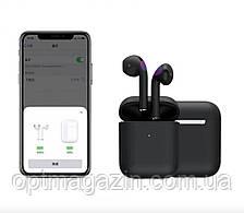 Сенсорні бездротові Bluetooth-навушники i20 XS Black Original, фото 2