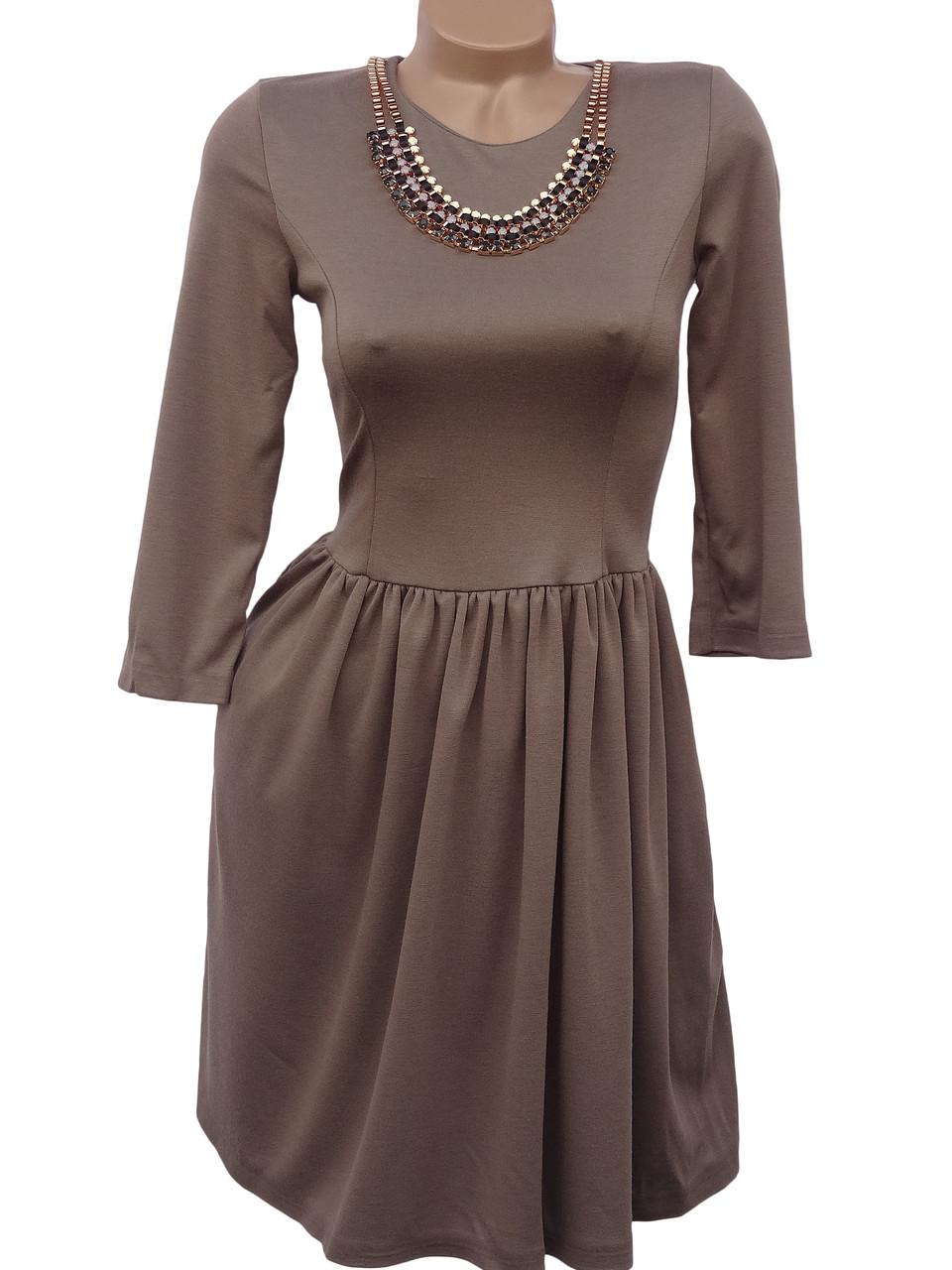 Красивое женское платье с колье (40-44)