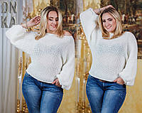 Свободный свитер большого размера