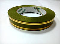 Лента зеленая атласная с люрексом 2 см * 50 м