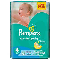 Подгузник Pampers Active Baby-Dry Maxi (7-14 кг), 76 шт (4015400736271)