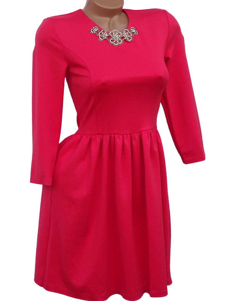 Нарядное платье приталенного кроя (в расцветках 40-44)