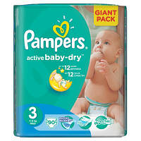 Подгузник Pampers Active Baby-Dry Midi (4-9 кг), 90шт (4015400736226)