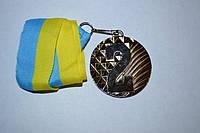 Медаль наградная с лентой, d - 5 см. (серебро) 2 место