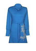 Платье БАБОЧКИ,классика,ворот,французский трикотаж., фото 1