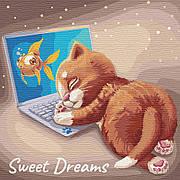 Картина по номерам Идейка Сладкий сон 30*30 см (без коробки) арт.KHO4186