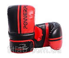 Снарядные перчатки, битки PowerPlay 3025 черно-красные S