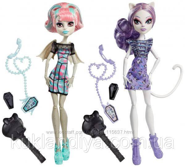 Набір ляльок Monster High Катрін де Мяу і Рошель Гойл - Rochelle Goyle Catrine Demew Ghoul Chat