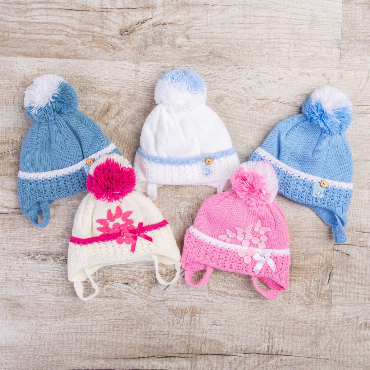 Детская зимняя шапка на завязках для мальчика- Артикул 0462