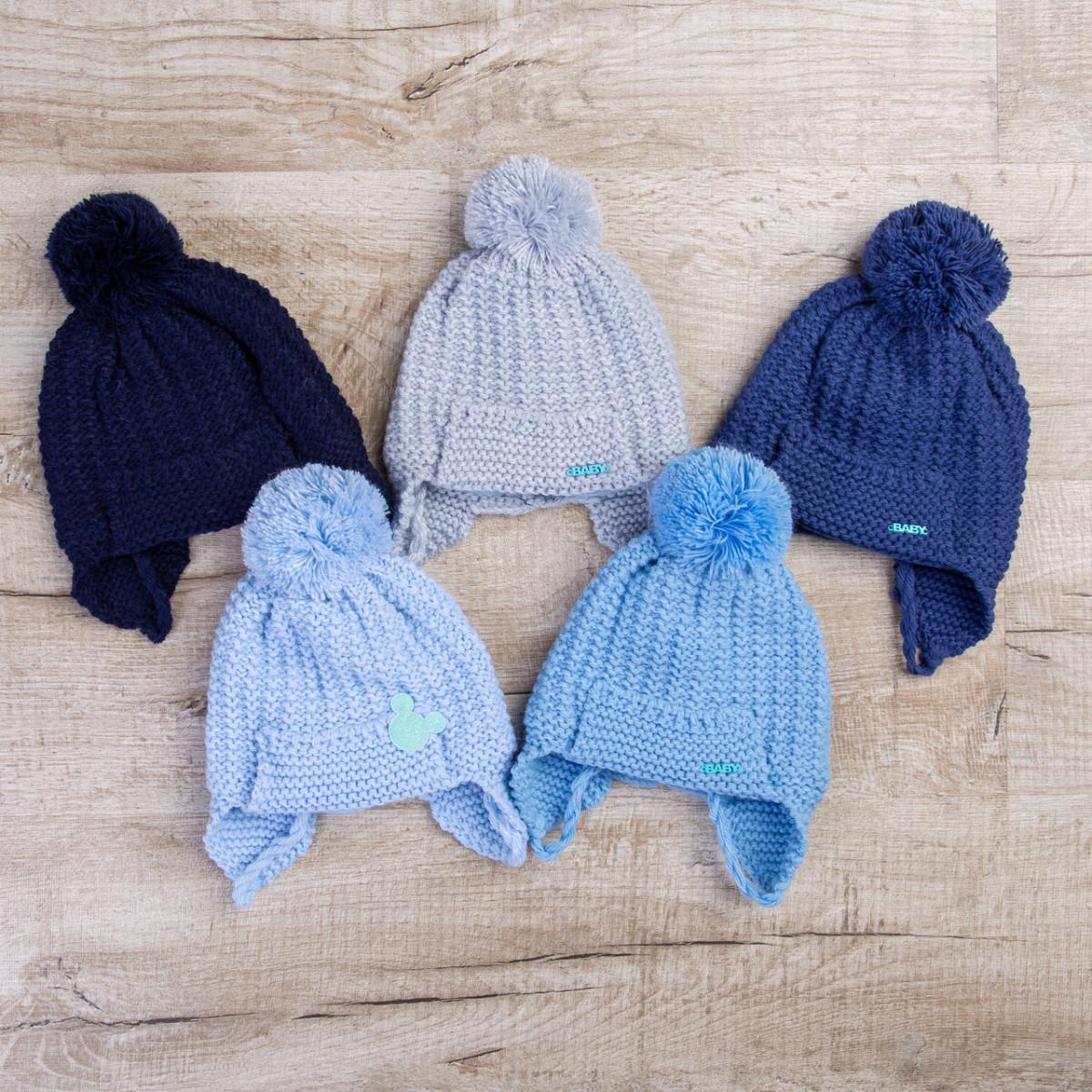 Детская зимняя шапочка для мальчика оптом - Артикул 0603