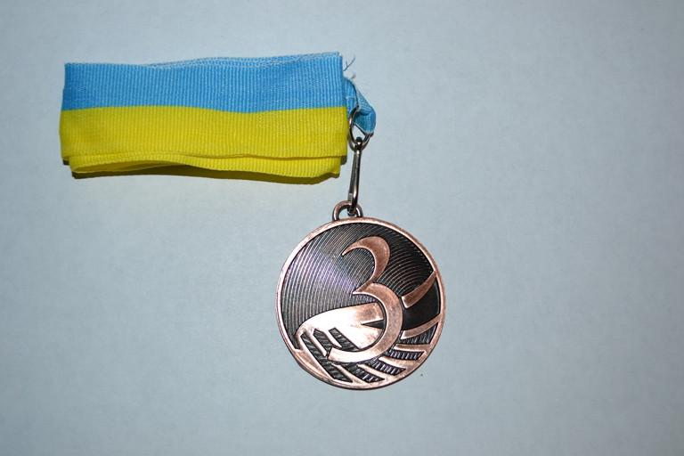 Медаль (волна) 3 место 5200-15 с лентой