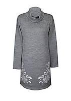 Платье БАРВИНОК,классика,ворот,французский трикотаж, фото 1