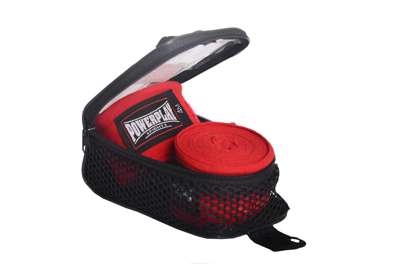 Бинты для бокса PowerPlay 3047 красные (4м)