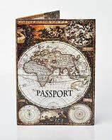 """Обложка на паспорт """"Карта мира"""""""