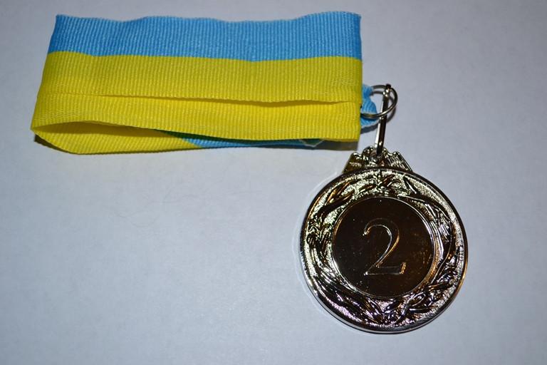"""Медаль """"Украина"""" 4,5-2 место с лентой"""