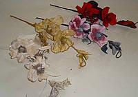 Ветка бархатных магнолий с декором кремовых, фото 1