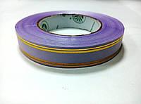 Лента сиреневая атласная с люрексом 2 см * 50 м
