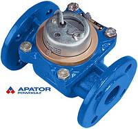Водосчетчик Apator PoWoGaz MWN-40-NK (ХВ) с импульсным выходом турбинный Ду-40 сухоход промышленный