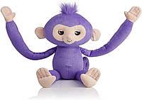 Интерактивная мягкая детская игрушка Обезьянка-обнимашка WowWee Fingerlings Hugs Kiki Оригинал Violet (786)