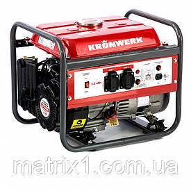 Генератор бензиновий LK 1500, 1.2 кВт, 230 В, бак 6 л, ручний старт Kronwerk