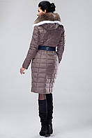Женский зимний пуховик c натуральным мехом. Модель 0325, фото 6