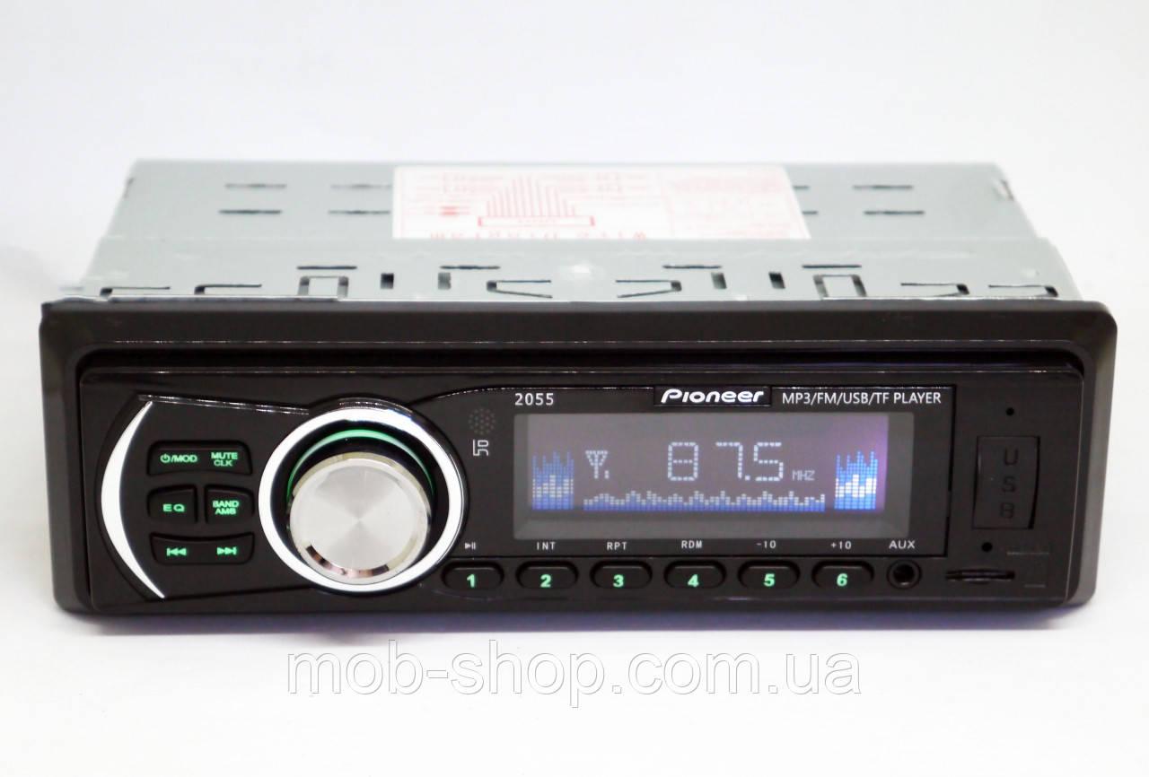 1 din Автомагнитола пионер Pioneer 2055 USB + AUX (1 дин мощная магнитола со скидкой)