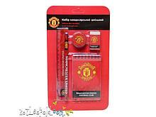 Набор канцелярский,блокнот+4канц.предмета FC Manchester United