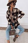 Женская рубашка, кашемир, р-р универсальный 42-46 (шоколадный), фото 2