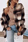 Женская рубашка, кашемир, р-р универсальный 42-46 (шоколадный), фото 3