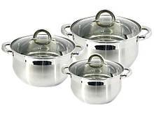 Набор посуды из нержавеющей стали Zauberg 3 шт 2л/3л/4л  (ZB-234S)