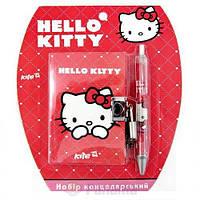 Набор канцелярский,блокнот на замке+ручка Hello Kitty