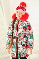 """Куртка детская """"Машенька-зима"""" с шапкой р.32"""