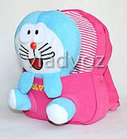 Дитячий рюкзак для дошкільнят з м'якою іграшкою зайчик заєць рожевий