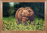 Схема для вышивки картин бисером для начинающих Медведь МК КС-032