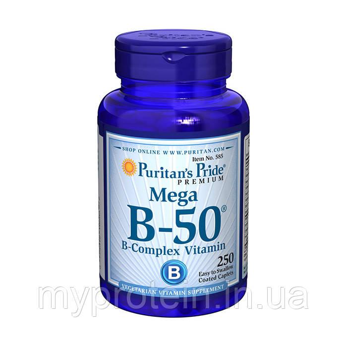 Puritan's Pride Витамины и минералы  Mega B-50 B-Complex Vitamin250 caps