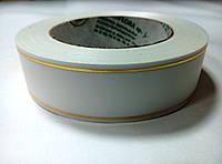 Лента белая атласная с люрексом 3 см * 50 м