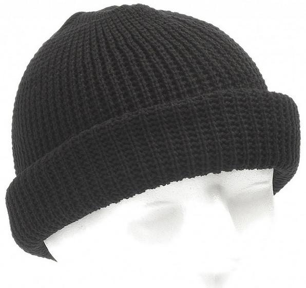 Вязаная акриловая шапка MFH Black 10913A