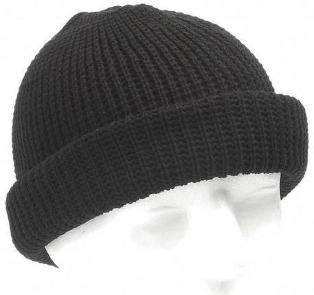 Вязаная акриловая шапка MFH Black 10913A, фото 2