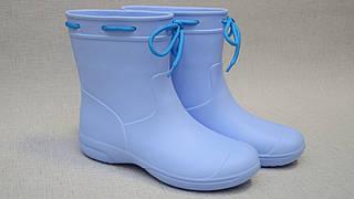 Чоботи жіночі (підліткові) блакитні з EVA (розміри 38,40 )