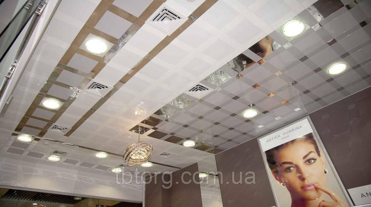 Підвісні стелі алюмінієві 300/300 0 63 мм Прямокутна з нанесенням дизайнерського малюнка