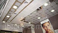 Подвесные потолки алюминиевые 300/300 0 63 мм Прямоугольная с нанесением дизайнерского рисунка