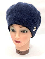 Берет женский с отворотом и флисом осень-зима. RGN Nylon+Soft
