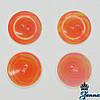 """Пуговица (декор) пластиковая (40) """"Орнамент"""" оранжевого цвета 6 шт"""