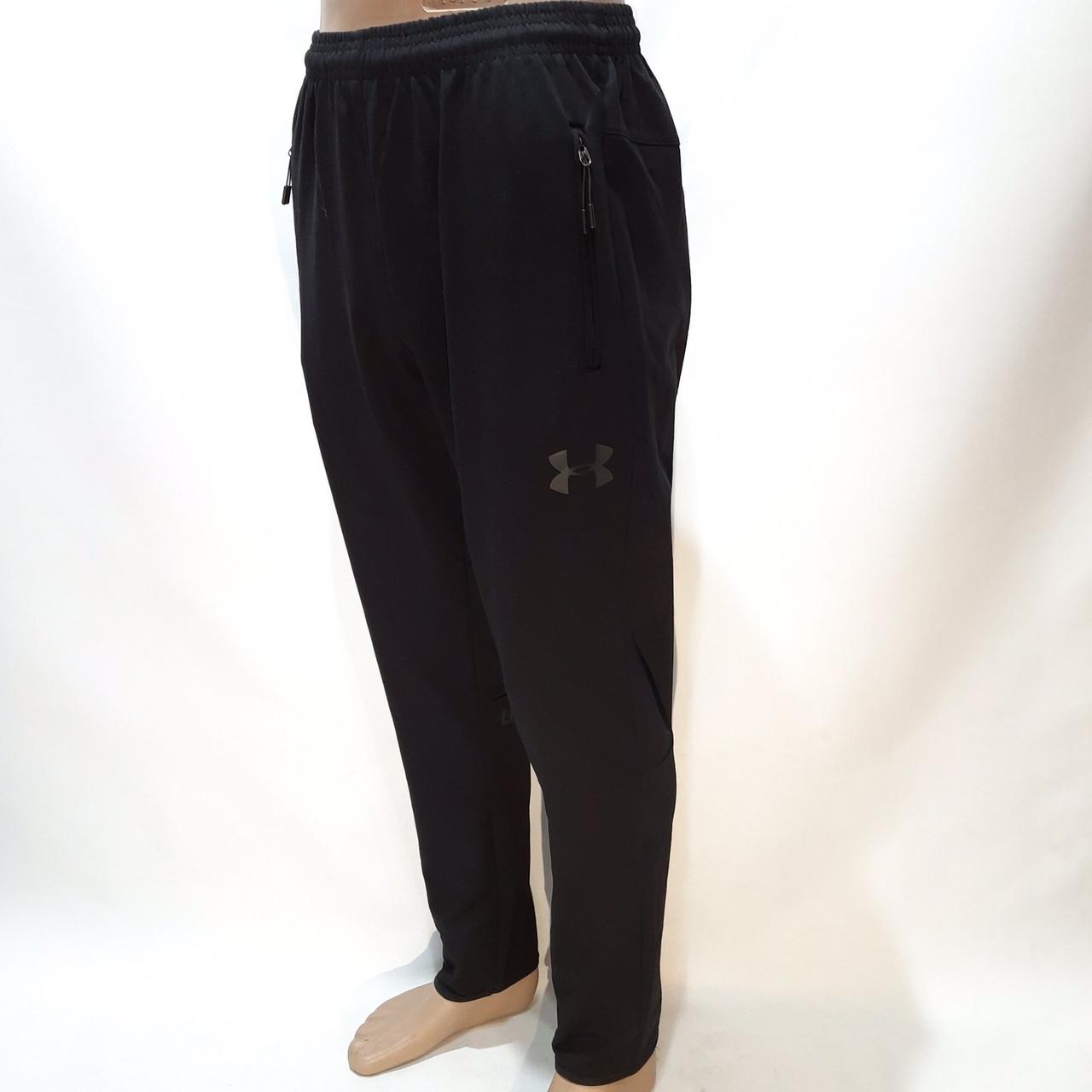 Мужские осенние спортивные штаны прямые хлопок M L XL XXL Черный