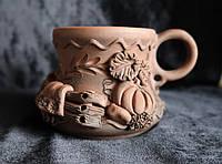 "Глиняная кружка - ""Народные мотивы"" 150мл.., фото 1"