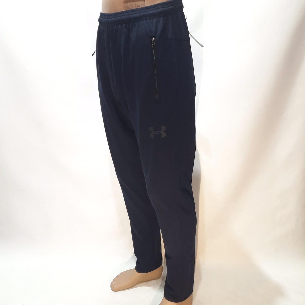 Чоловічі осінні спортивні штани прямі бавовна р M, L, XXL, XXXL Темно-синій