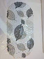 Коврик в ванную банный антискользящий резиновый 35*69 см Белый, фото 5